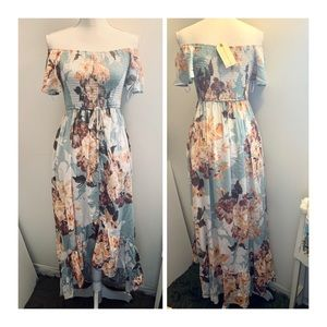 NWT Band of Gypsies floral high&low dress